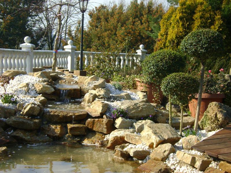 Agua y Jardín, obra completa de jardines exteriores